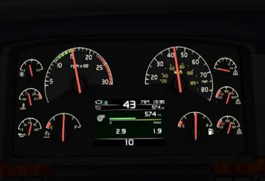 SCS Volvo VNL dashboard v3.1 1.35.x