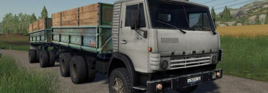 KAMAZ 5320 with trailer GBK-8551 v1.0
