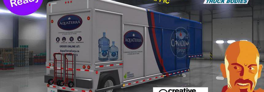 MICKEY'S BEVERAGES TRAILER REWORKED UPDATED ATS 1.35.x & DX11