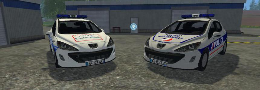 Peugeot 308 Police Nationale + Municipale v1.0