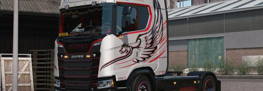 Silver Griffin skin for Scania Next Gen 1.35