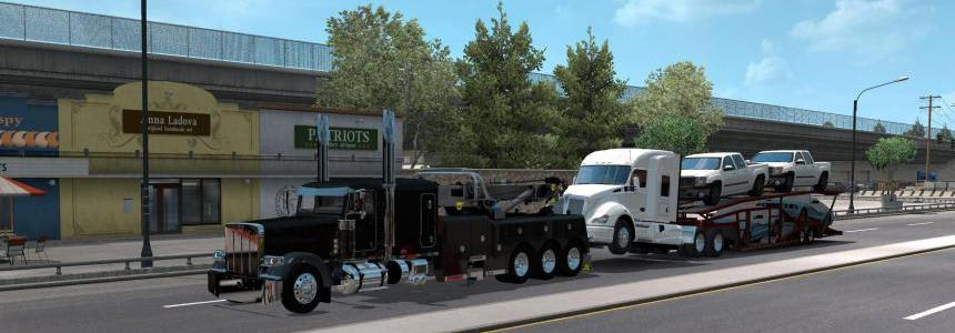 Truck transporter wrecker loads 1.35