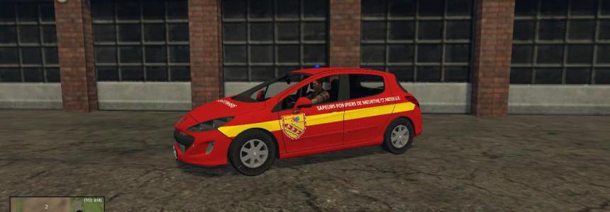 Vl Peugot 308 Pompiers reskin sdis54 v1.0