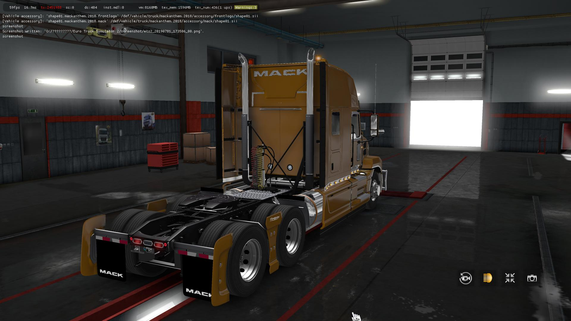 Mack Anthem fix v1 2 ETS2 1 35 - Modhub us