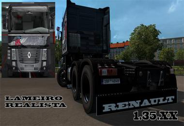 Animated mudguards for RENAULT MAGNUM 1.35