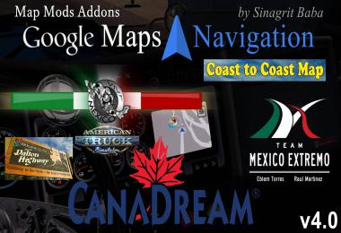 ATS - Google Maps Navigation Night & Normal Map Mods Addons v4.0