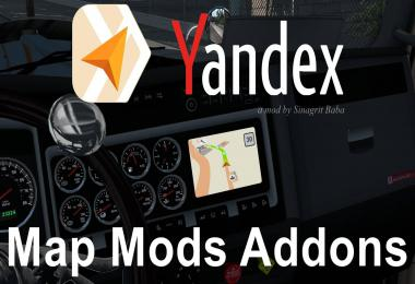 ATS - Yandex Navigator Normal & Night Map Mods Addons v1.0