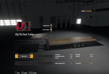 C&J Tilt Deck Trailer v1.0