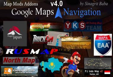 Google Maps Navigation Normal & Night Map Mods Addons v4.0