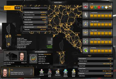 ETS2 100% Explored Save Game Profile v1.35s – Sardinia
