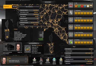 ETS2 100% Explored Save Game Profile v1.35s – Sardinia