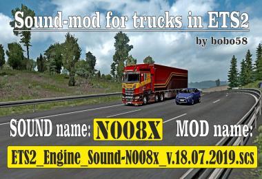 ETS2 Engine Sound N008x 1.35.x