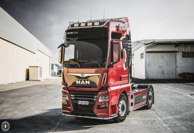 Man Tgx Euro 6 Real V8 Sound And Sound Rework 1.35