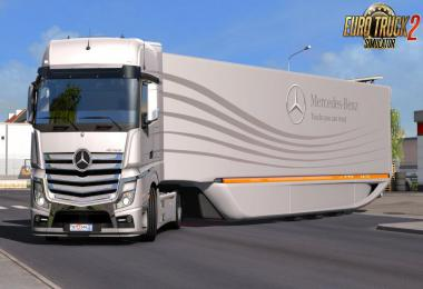 Mercedes Benz AeroDynamic Trailer Concept by AM