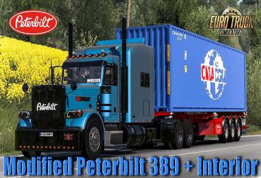 Modified Peterbilt 389 + Interior v2.2.4