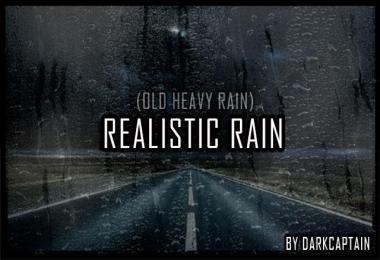 Realistic Rain v2.5 ETS2 1.35