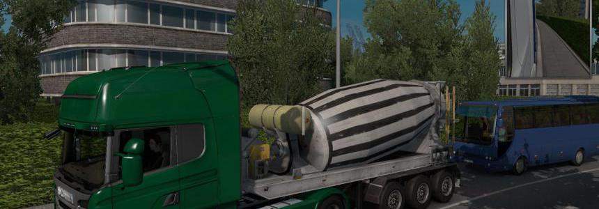 Cement Mixer Jobs & Traffic ETS 2 1.35.x