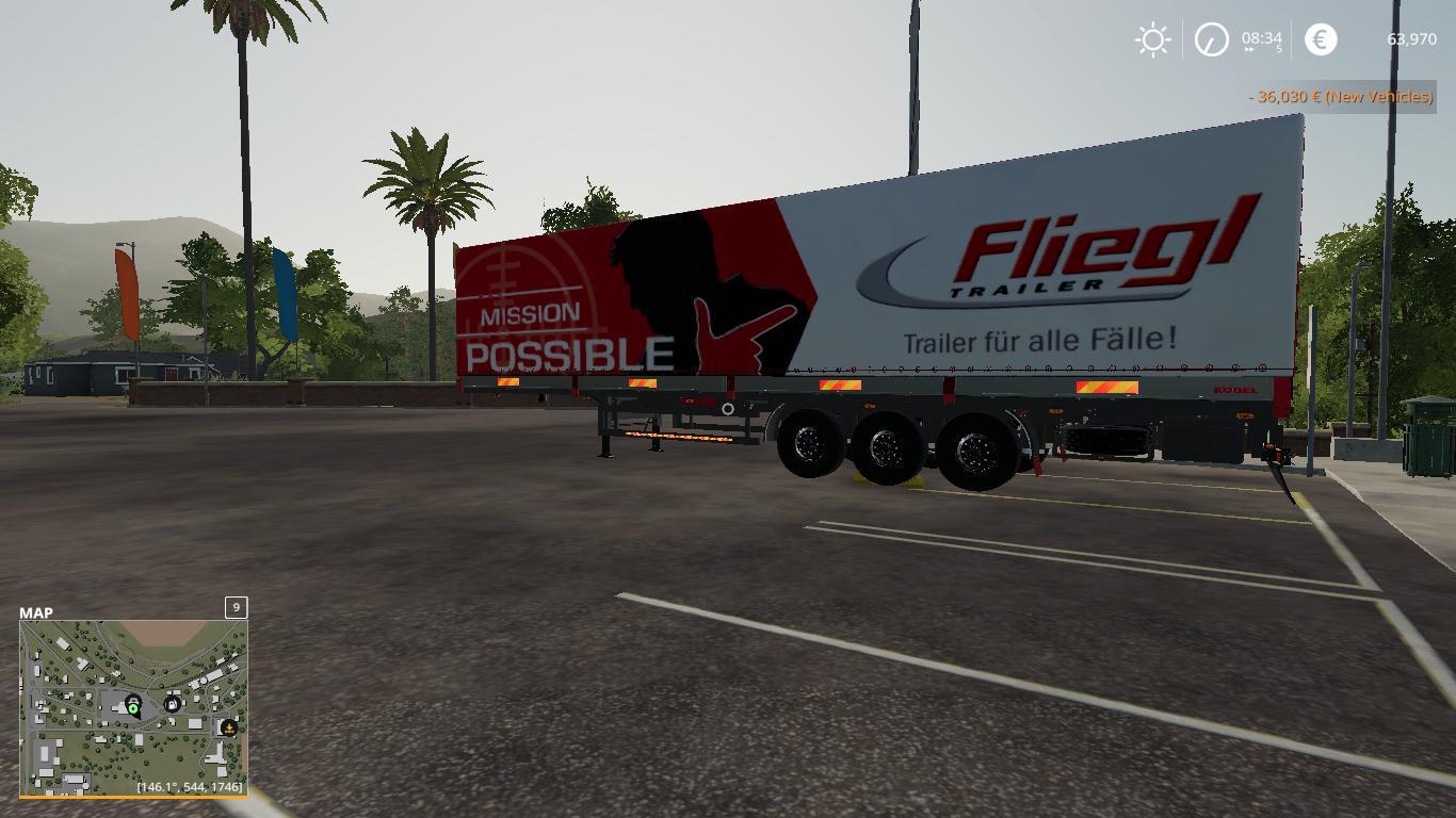 Fs19 Fliegl Autoloader Trailer V1 0 Modhub Us