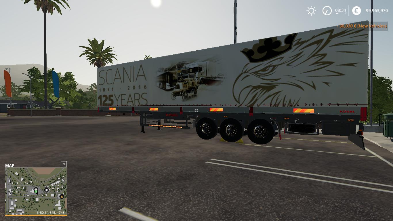 Scania 125 Years Kogel Autoloader Trailer V1 0 Modhub Us