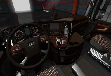 Mercedes Actros MP4 LUX Wood Interior 1.35.x
