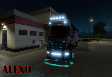 ALEXD FLARE AND 10.000 K LIGHTS FOR ALL TRUCKS v1.4