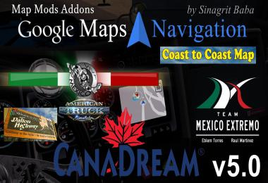 Google Maps Navigation Normal & Night Map Mods Addons v5.0