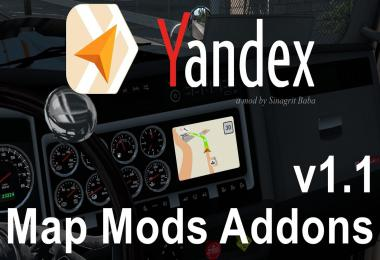 Yandex Navigator Normal & Night Version Map Mods Addons v1.1