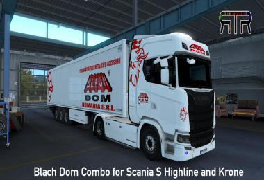 Blach Dom Combo for Scania S Highline and Krone v1.0
