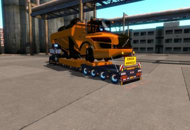 Doll Trailer 4axled With Dumper Orange 1.35