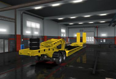 Flatbed Trailer 4 axles v1.6