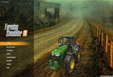 FS19 Menu Background - Autumn Dirt Road v1.0