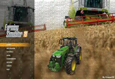 FS19 Menu Background - Claas Combines by CrowerCZ