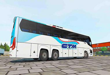 Pack MohSkinner Bus Scania Touring v2.4