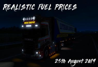 Realistic Fuel Prices – 25th August 2019 1.35.x