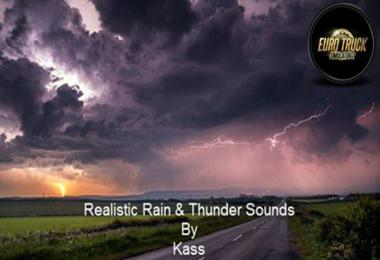 Realistic Rain & Thunder Sounds v1.3 ATS by Kass