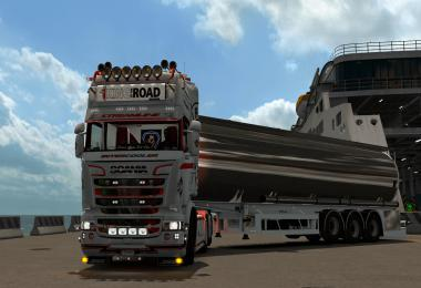 Scania Streamline WhiteRedBlack skin 1.35