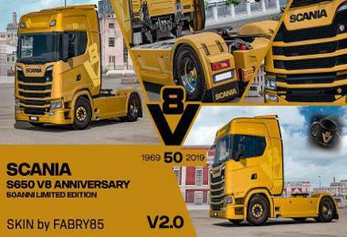 Scania V8 Anniversary 50anni Italian Limited Edition Skin v2.0