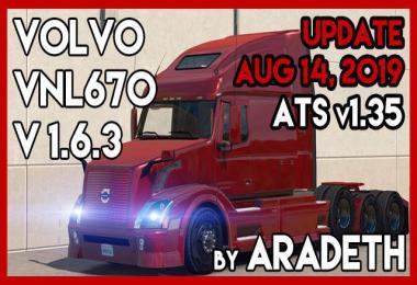 VOLVO VNL670 v1.6.3 by ARADETH ATS 1.35.x