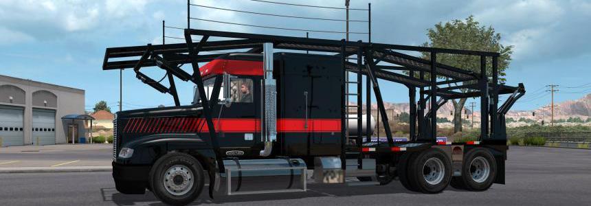 Renenate freightliner fld carhauler + trailer v1.0