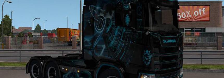 Tron Next Gen S Scania Skin v1.0