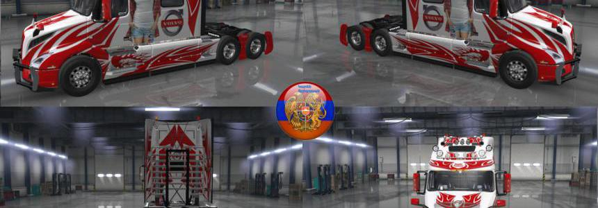 Volvo truck VNL 2018 Skin Pack Metallic Racing v2.0