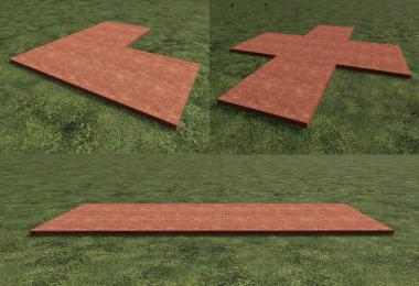 FS19 Red Placeable Slabs v1.0