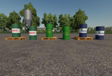 500l Diesel barrel Pack v1.0