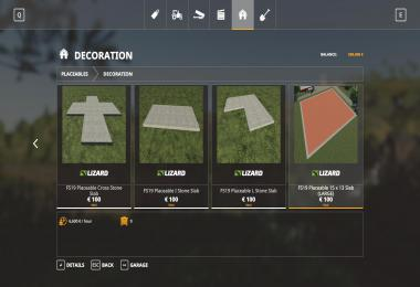 FS19 Grey Placeable Slabs v1.0