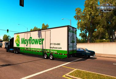 [ATS] Trailer RD Moving Van + 17 Skins 1.35.x