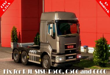 FIX FOR RJL SISU R500 C500 C600 ETS2 1.35.x