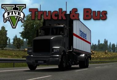 GTA V Truck & Bus Traffic Pack v1.0