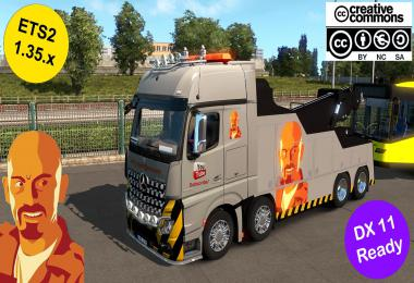 MB ACTROS MPIV CRANETRUCK CUSTOM SKIN 1.35.x DX11