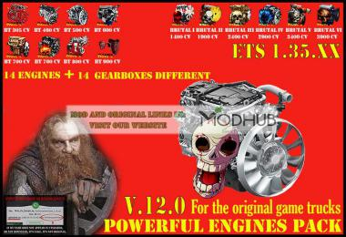 Pack Powerful engines + gearboxes v12.0 for 1.35.x