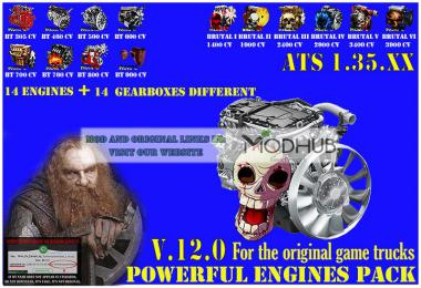 Pack Powerful engines + gearboxes v12.0 for ATS 1.35.x